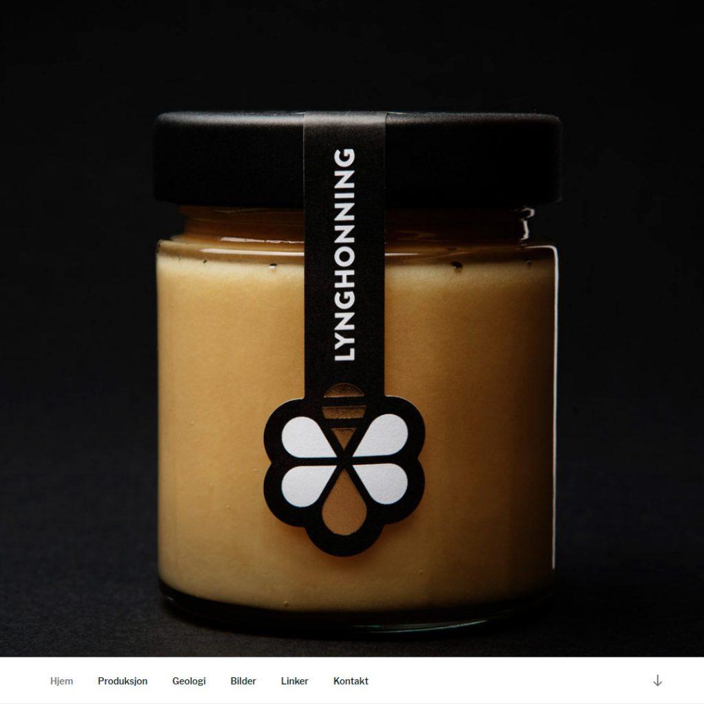 Nettsiden Frittflyvendebier.no for Solsiden honning 2017